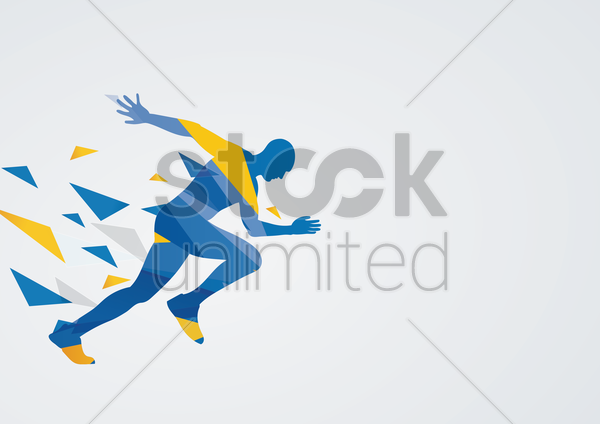 sprinting in action vector graphic