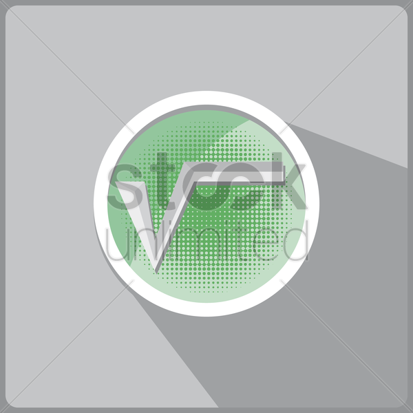 square root vector graphic
