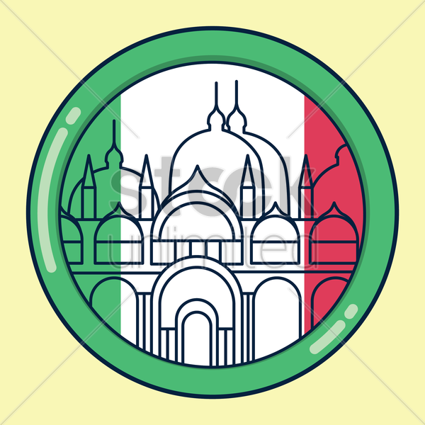 Free st. mark's basilica vector graphic