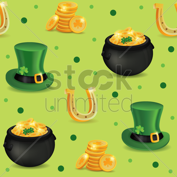 st patricks day pattern background vector graphic