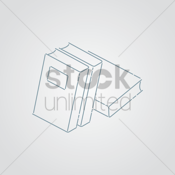stack of books vector graphic