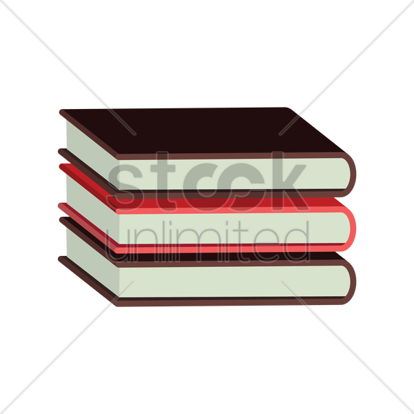 Free stack of books vector graphic