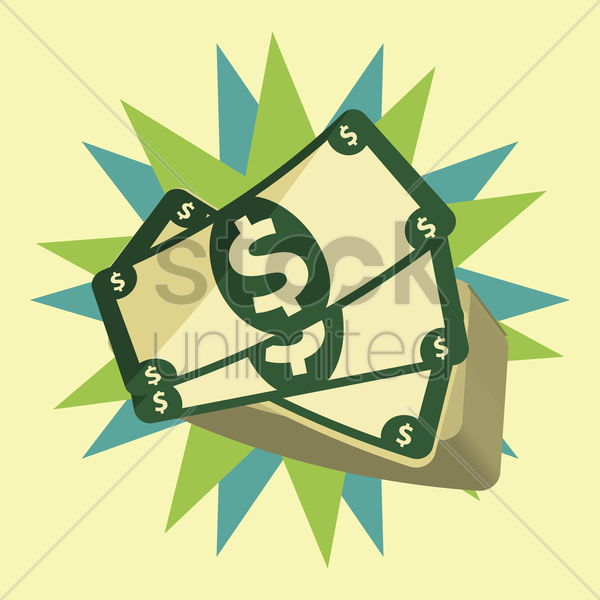 stack of cash vector graphic