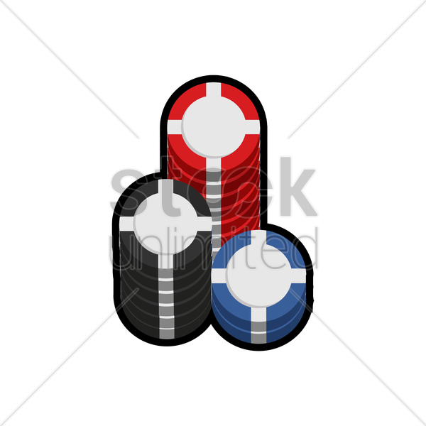 stack of casino chips vector graphic