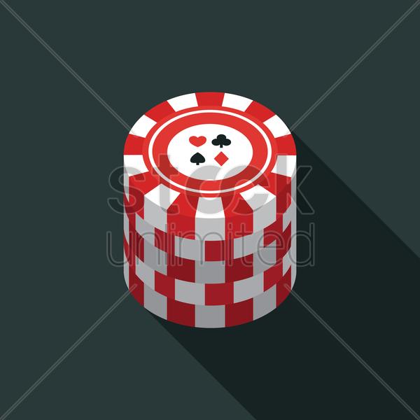 Stack of poker chips V...