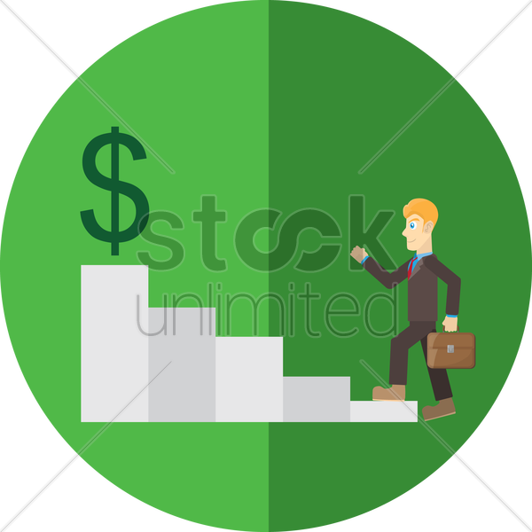 staircase of business career vector graphic