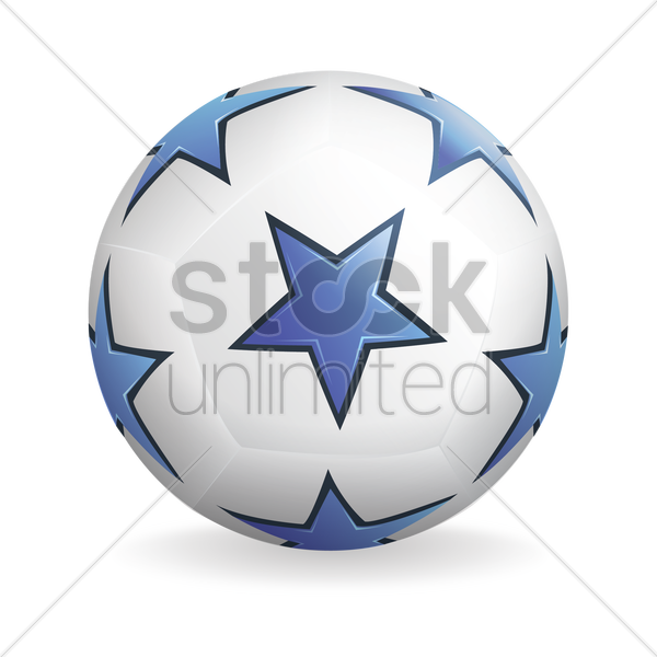star pattern soccer ball vector graphic