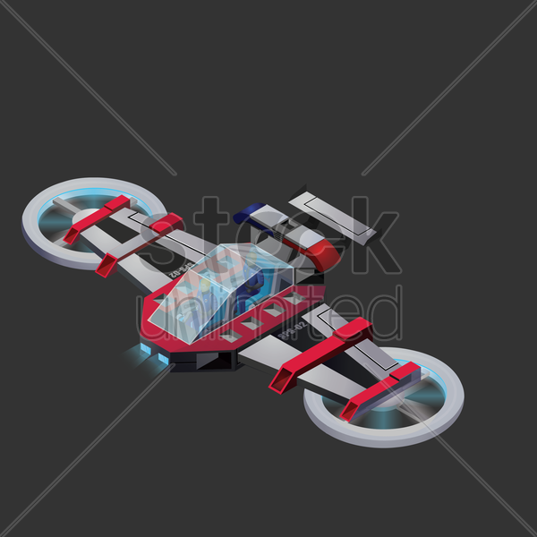 starship vector graphic