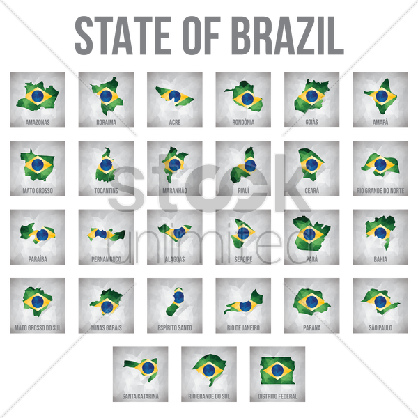 state of brazil vector graphic