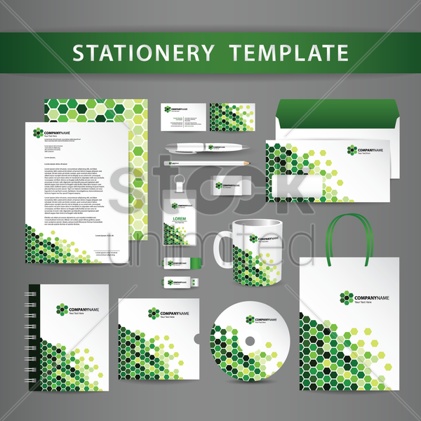 stationery template vector graphic