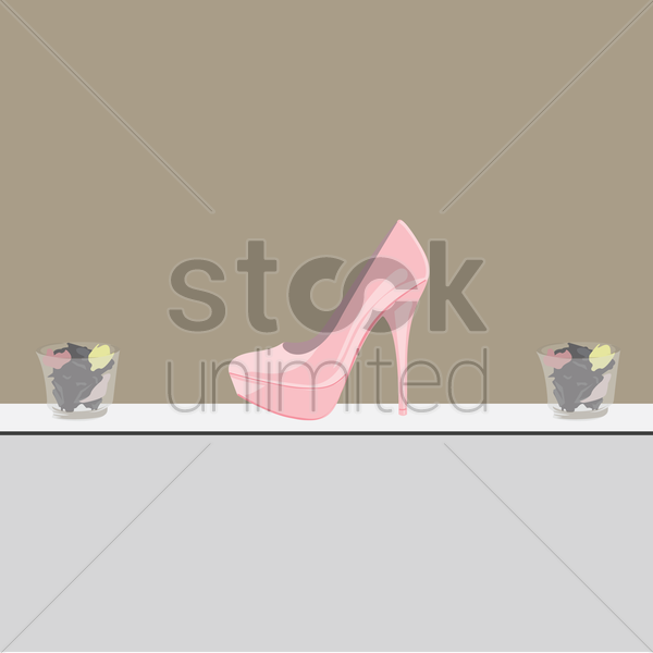 stiletto on a shelf vector graphic