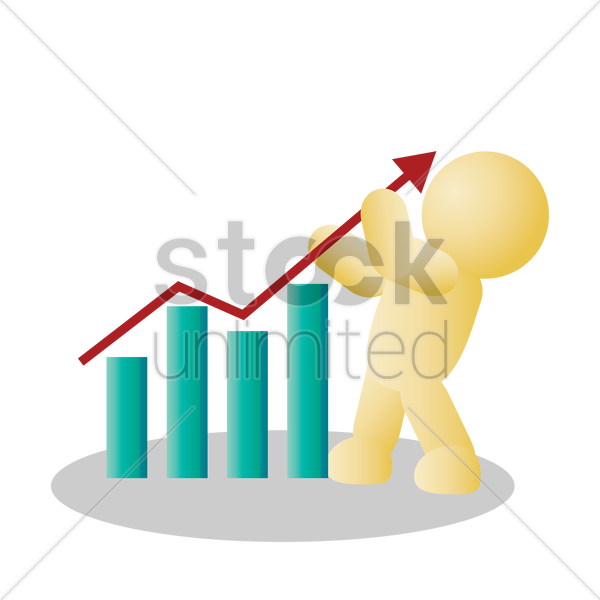 stock graph vector graphic