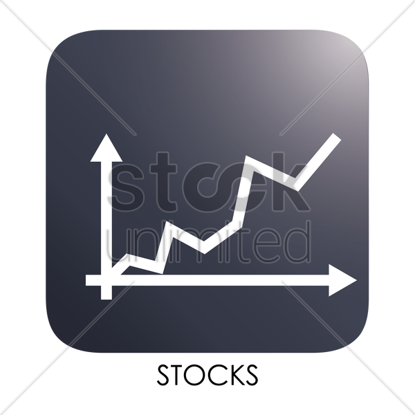 stocks icon vector graphic