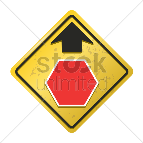 stop ahead sign vector graphic