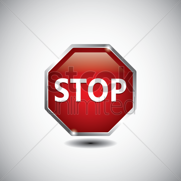 stop road sign vector graphic