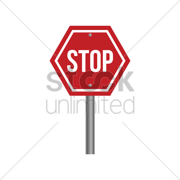 stop sign vector graphic