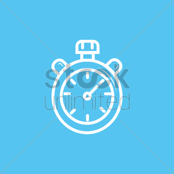 stopwatch vector graphic