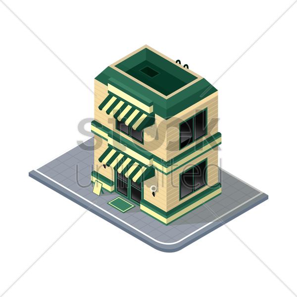store building vector graphic