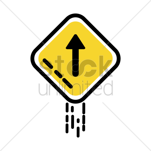 straight arrow auxiliary sign vector graphic