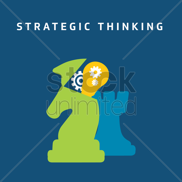 Free strategic thinking vector graphic