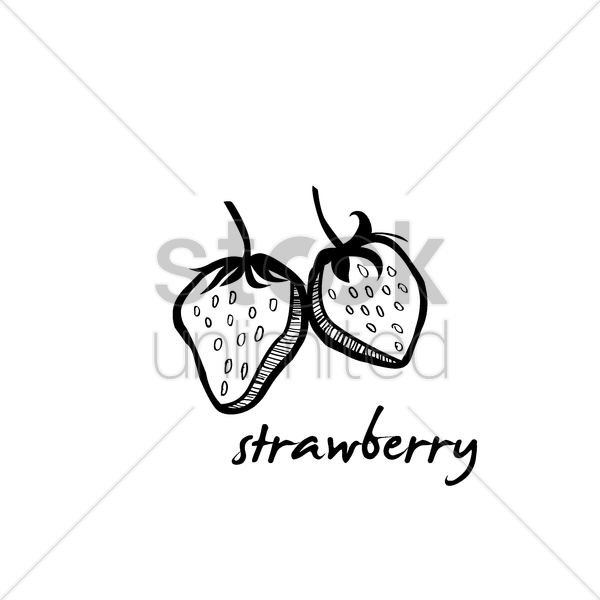 strawberry vector graphic