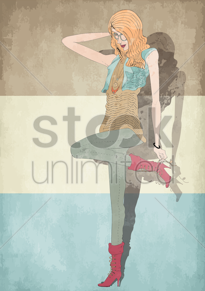 Free street wear for women vector graphic