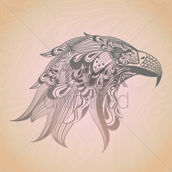 stylized eagle design vector graphic