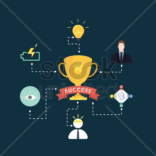 success infographic vector graphic