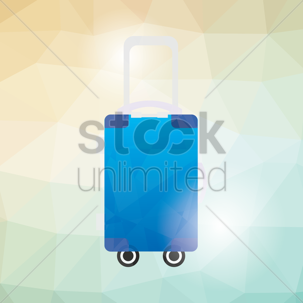 suitcase vector graphic