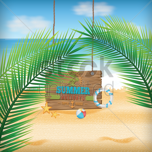 summer background vector graphic