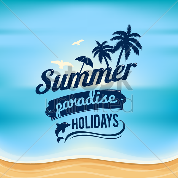 summer beach wallpaper vector graphic