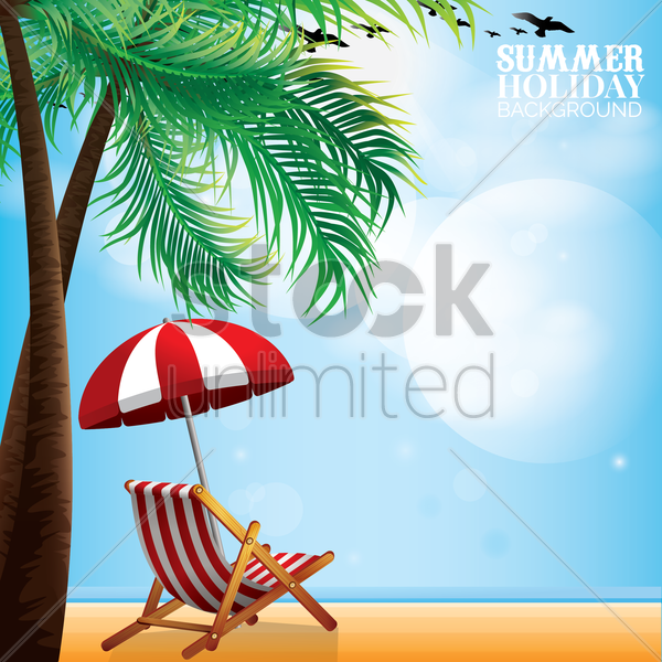 summer holiday background vector graphic