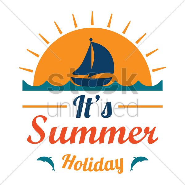 summer holiday design vector graphic