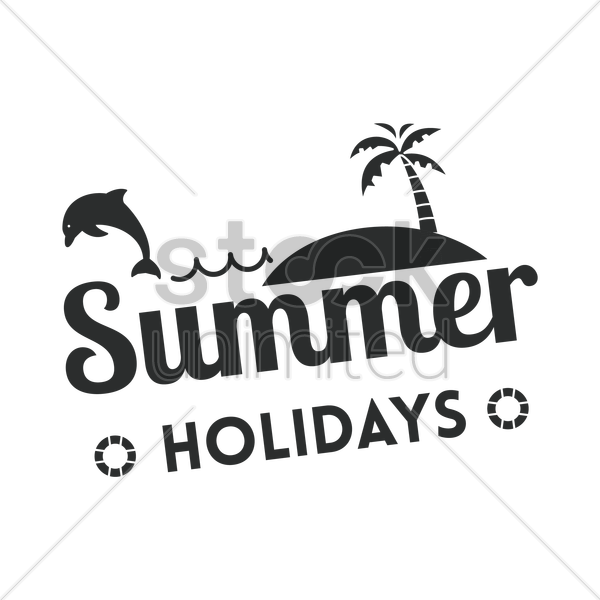 summer holiday label vector graphic