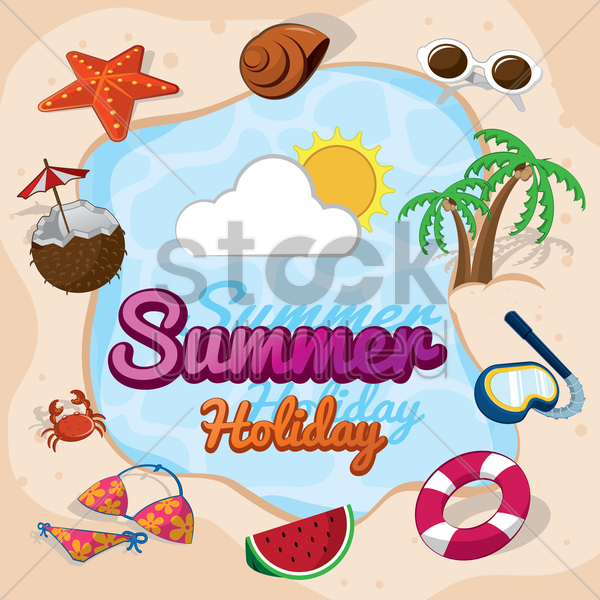 summer holiday vector graphic