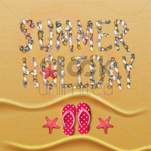summer holidays design vector graphic