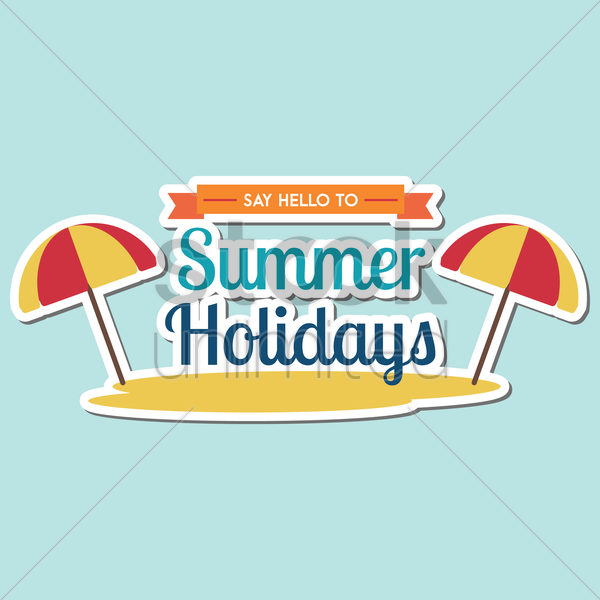 summer holidays vector graphic
