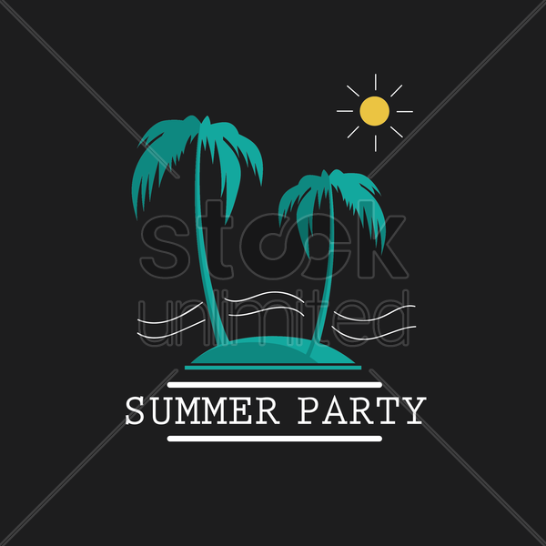 summer party wallpaper vector graphic
