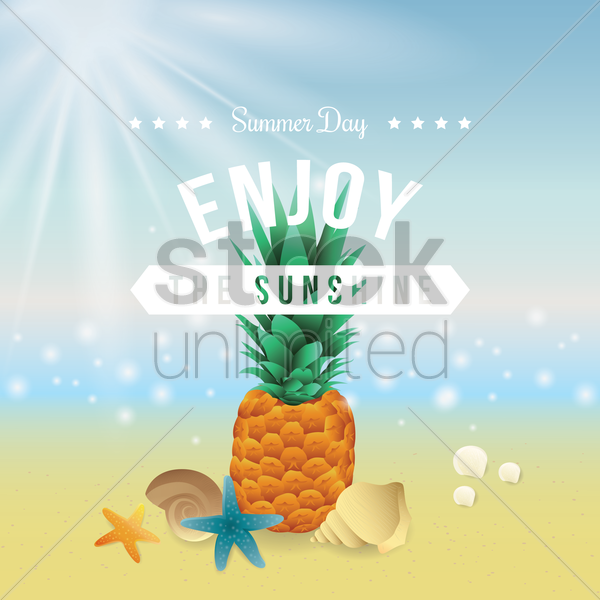 summer poster vector graphic