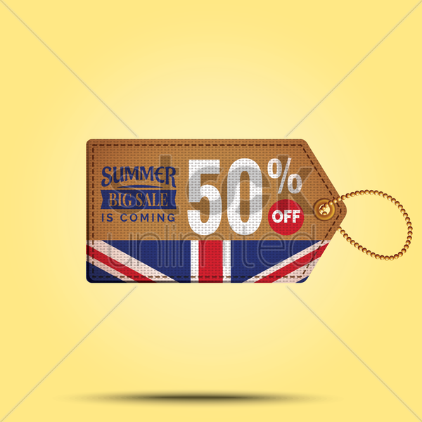 summer sale offer tag vector graphic