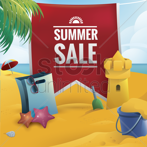 summer sale vector graphic