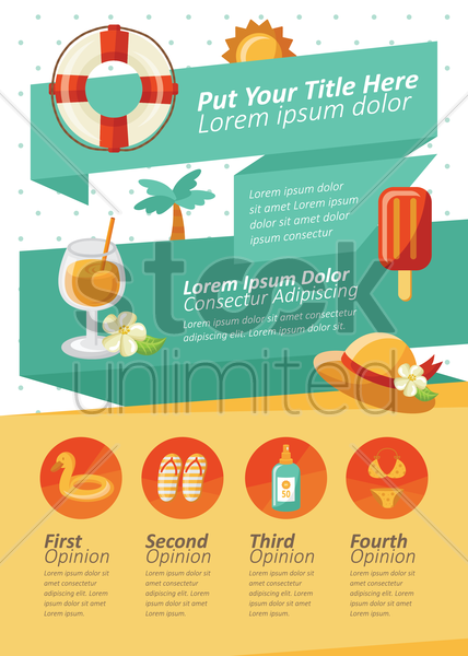 summer themed infographic vector graphic