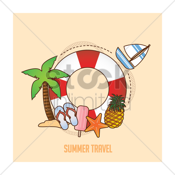 summer travel concept vector graphic