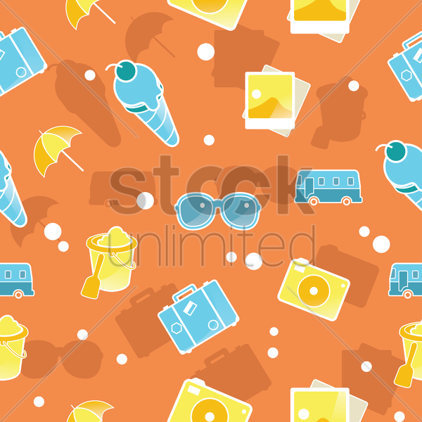 Free summer vacation background vector graphic
