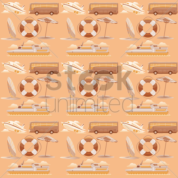 summer vacation background vector graphic