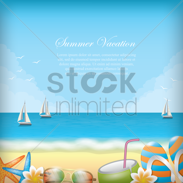 summer vacation wallpaper vector graphic