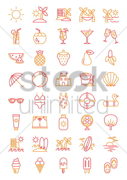 summer vacation vector graphic