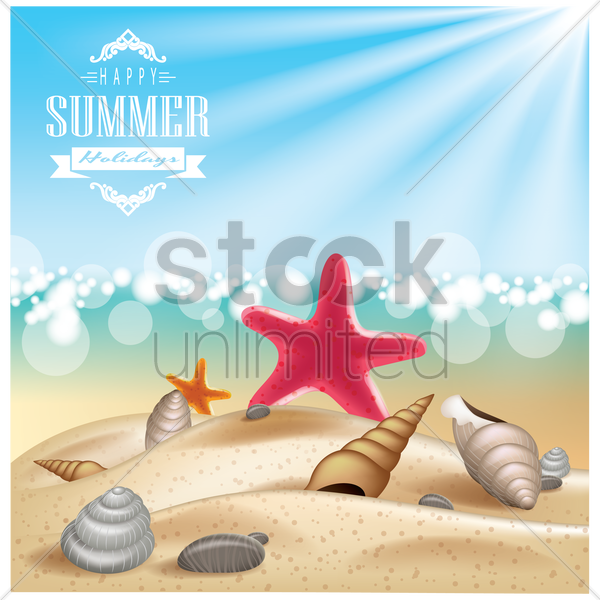 summer vacations wallpaper vector graphic