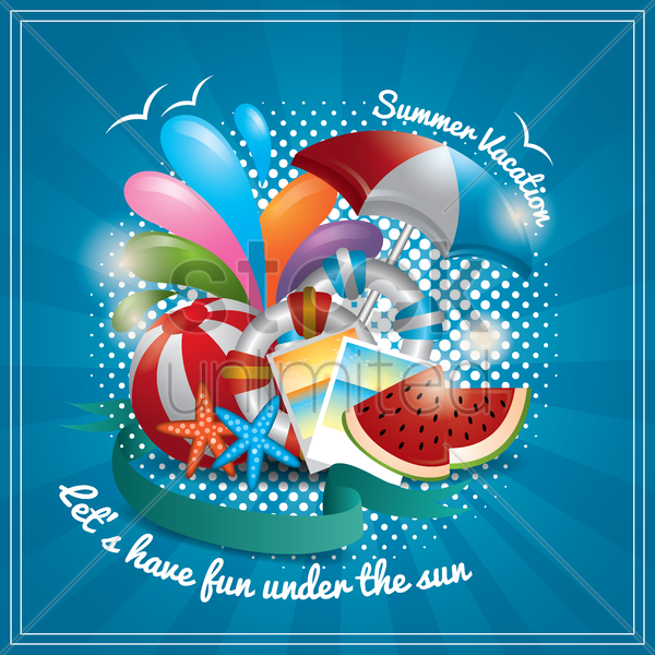 summer wallpaper vector graphic