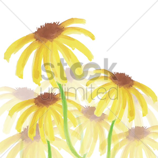 sunflowers vector graphic